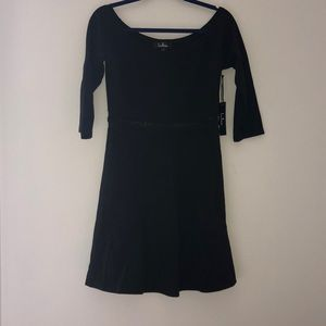 NEW NEVER WORN Lulu's Black Partially-Mesh Dress